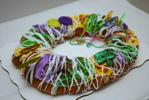 A Ralphs Market king cake, one of the popular symbols of Mardi Gras season in New Orleans.